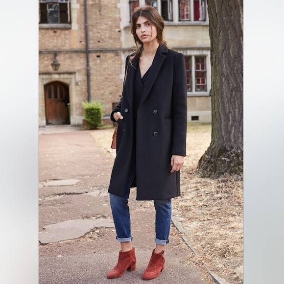 Sezane Parisian Wool Blend Coat Small by Sezane